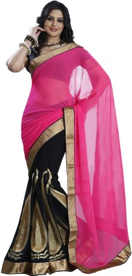 Illusions Self Design Fashion Georgette Sari