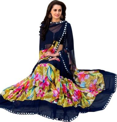 Veddeal Printed Daily Wear Georgette Sari