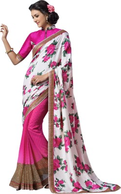 Brijraj Embellished Fashion Raw Silk, Georgette Sari