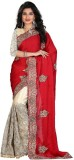 srk Solid Fashion Georgette Saree (Red)
