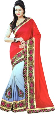 AC Creation Embriodered Fashion Jacquard Sari