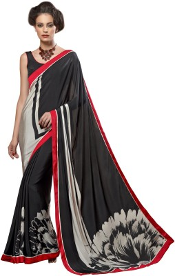 Fashion Forever Printed Fashion Crepe Sari