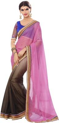 Kvsfab Self Design Fashion Art Silk Sari