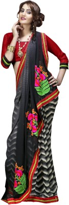 FNF Printed Fashion Chiffon Sari