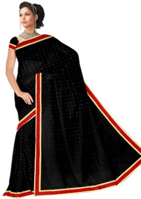 Utsava Solid Fashion Georgette Sari