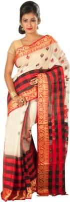 Rajib's Creation Embriodered Fashion Handloom Silk Sari