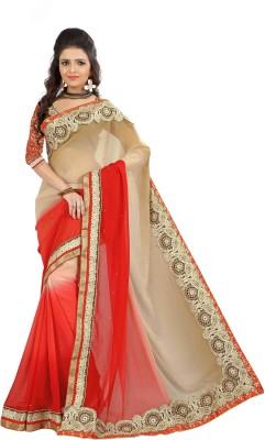 Chhaya Creation Embriodered Fashion Marble Padding Sari