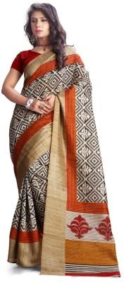 A G Lifestyle Geometric Print Fashion Art Silk Sari
