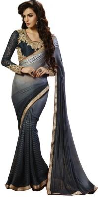Kintu Designs Pvt. Ltd. Plain Fashion Georgette Sari