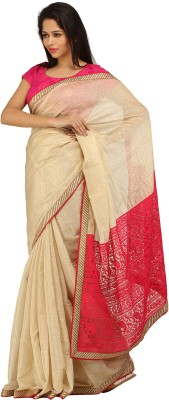 Charming Self Design Lucknow Chikankari Jacquard Sari