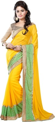 vruticreation Self Design, Embriodered Bollywood Georgette, Jacquard Sari