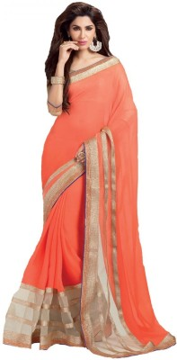 Leewodeal Embriodered Bollywood Georgette Sari