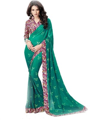 Chaand Embellished Bollywood Georgette Sari