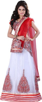 EthnicPark Self Design Fashion Net Sari(Multicolor)