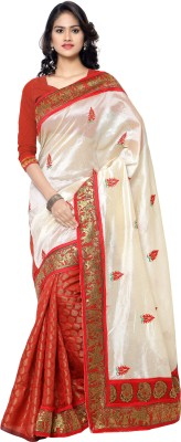 Archishmathi Floral Print Fashion Chanderi Sari
