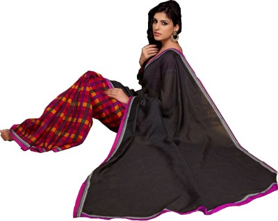 Ps Enterprise Printed Daily Wear Silk Sari