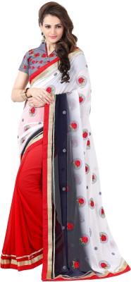 Onlinefayda Self Design Bollywood Georgette Sari