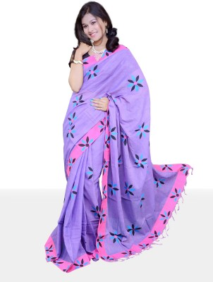 Maitri Applique Tant Cotton Sari