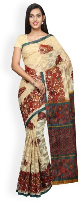 Korni Printed Bhagalpuri Brasso Saree(Beige, Brown) at flipkart