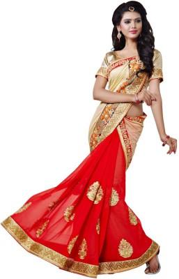 Sundari Fashion Embriodered Fashion Art Silk, Georgette Sari