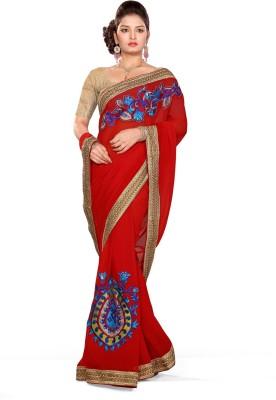 De Marca Printed Fashion Chiffon Sari