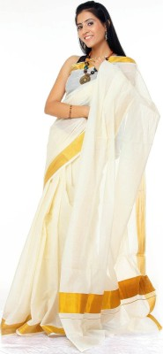 Creative Weaves Plain Kumbakonam Cotton Sari