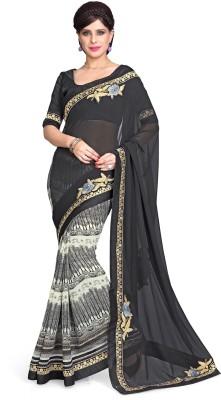Sourbh Sarees Embriodered Fashion Georgette Sari
