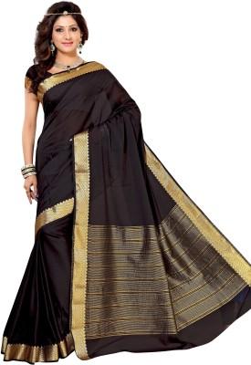 Alankrita Self Design, Woven, Plain Kanjivaram Crepe, Silk, Art Silk Sari