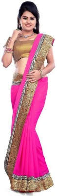 Saiyaara Fashion Solid Bollywood Georgette Sari