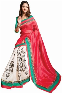 SKYCREATION Embriodered, Plain Bollywood Georgette Sari