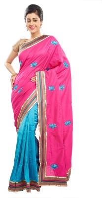 Babins Boutique Self Design Fashion Cotton, Silk Sari
