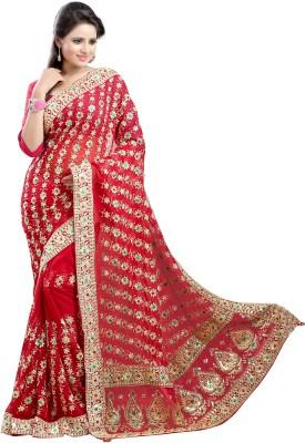 Chandra Silk Mills Embellished, Embriodered Fashion Art Silk Sari