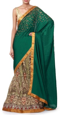 Kalki Embriodered Fashion Handloom Satin Sari