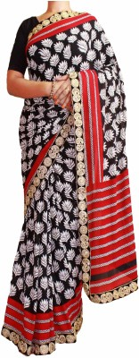 Sesco Printed Daily Wear Chiffon Sari