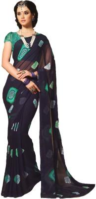 DESIGN WILLA Self Design Fashion Chiffon Sari