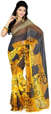 Styloce Printed Fashion Denim Sari