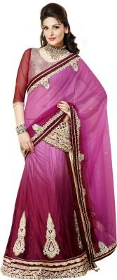 Moh Manthan Self Design Lehenga Saree Net, Satin Sari