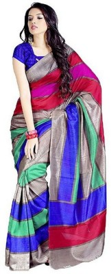 Yogi Creation Printed Bhagalpuri Handloom Silk Sari