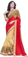 Melluha Embroidered Fashion Silk Sari(Red)
