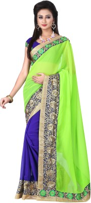 Manshvi Fashion Embriodered Daily Wear Georgette Sari