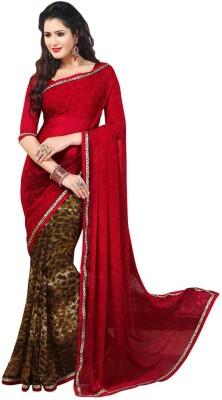 Salwar Studio Paisley, Printed Daily Wear Synthetic Georgette Sari