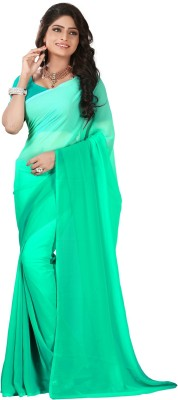 Surupta Plain Daily Wear Georgette Sari