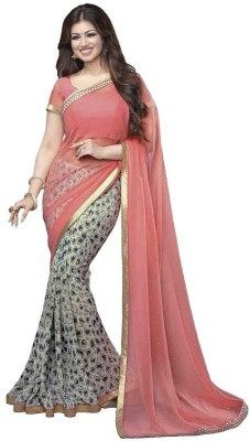 Patij Self Design Fashion Chiffon Sari