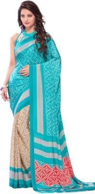 Anu Creation Printed Bollywood Crepe Sari