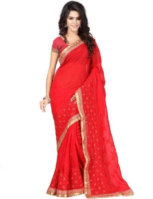 Panchvatienterprise Self Design Rajkot Handloom Georgette Sari