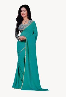 freshboss Solid Coimbatore Synthetic Sari
