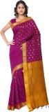 MINAXI Plain Daily Wear Poly Silk Sari