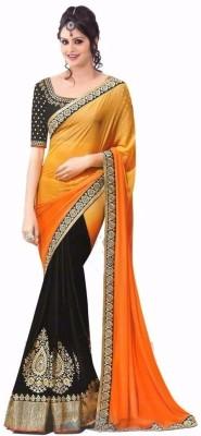 Hari Krishna Enterprise Self Design Fashion Georgette Sari