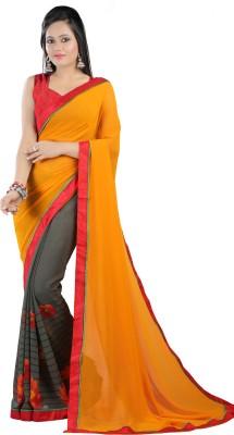 Kvsfab Printed Fashion Georgette Sari