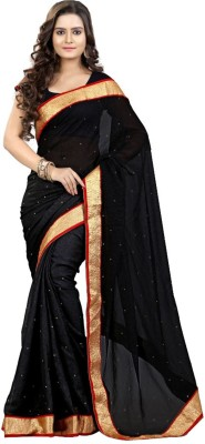 nupur fashion Embriodered Bollywood Chiffon Sari